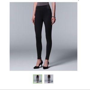 Simply Vera wang elastic black pants